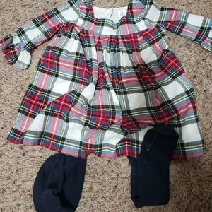 Baby gap plaid dress, perfect for the holiday seas
